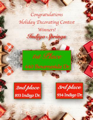 Indigo Springs -Holiday Contest